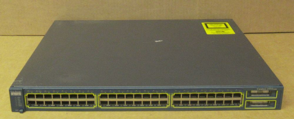 Cisco WS-C2950G-48-EI 48x10/100 Ethernet 2xGBIC L2 Managed RackMount Switch - 202857796620